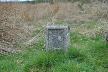 Unmarked gravestone