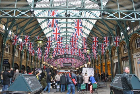 Covent Garden decorated for the occasion