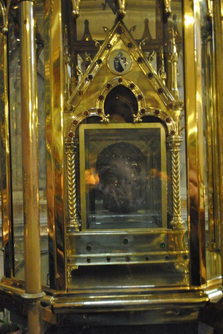 The preserved head of St. Oliver Plunkett