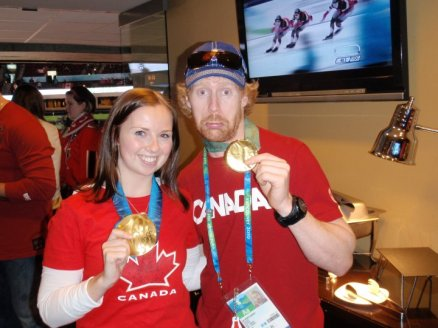 Men's Hockey Final - medal ceremony with Jon Montgomery