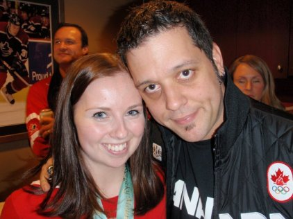 Men's Hockey Final - I met Strombo!