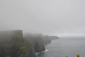 Fog covered Cliffs