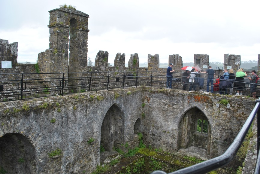 Waiting to kiss the Blarney Stone