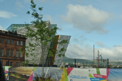 Passing by the Titanic Exhibit in Belfast