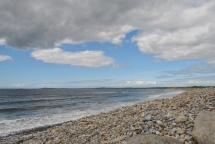 Sitting on the beach in Strandhill