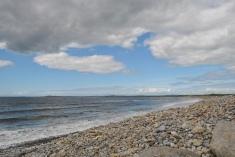 Sitting on the beach in Strandhill
