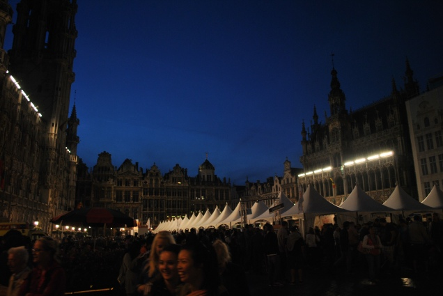 The Grand Place, don't mind the beer tents