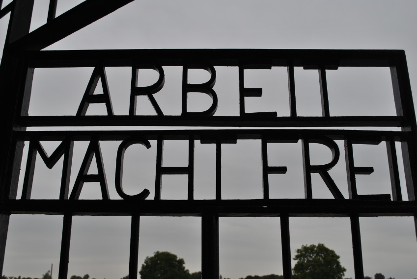 """""""Work sets you free"""" - Entrance to the camp"""