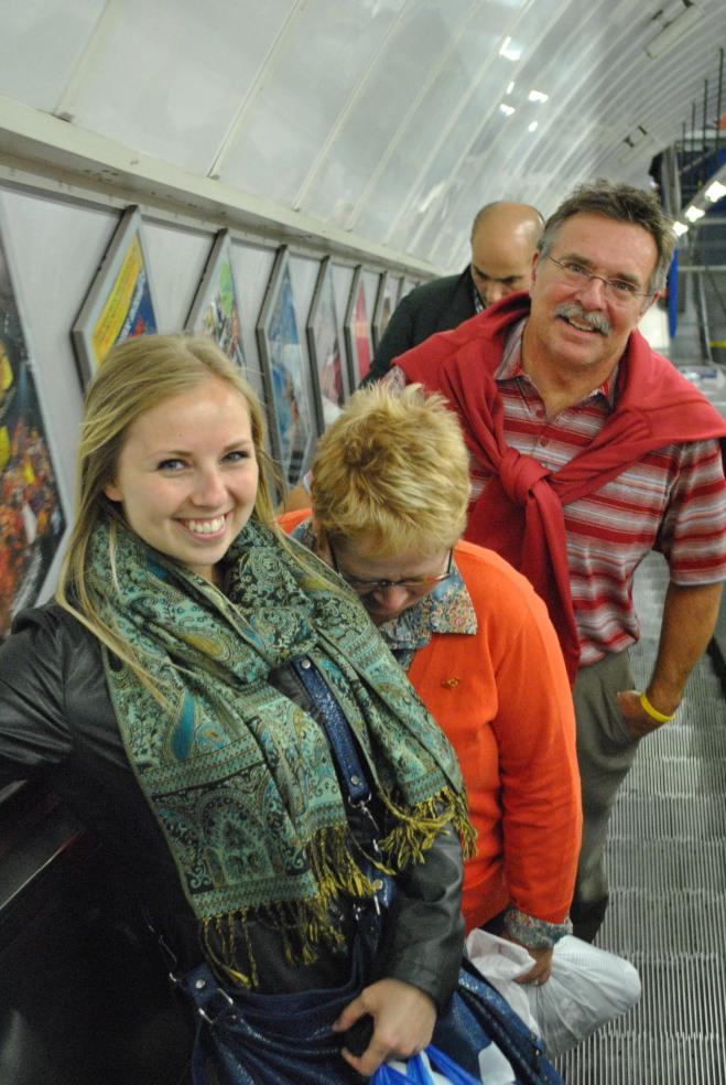 Mum wasn't a fan of the Tube