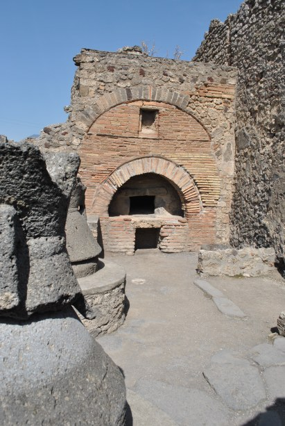 A bakery - perfectly preserved bread was found inside the ovens
