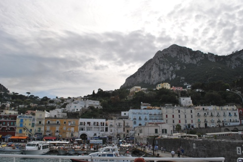 The not so pretty area we docked in on Capri