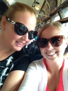 On the free tram, weee!